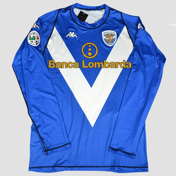 Camiseta Brescia Calcio Replica Primera ML Retro 2003-04 Azul