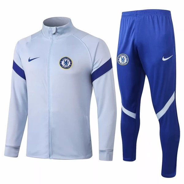 Chandal Chelsea 2020-21 Gris Claro Azul
