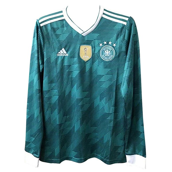 Camiseta Alemania Replica Segunda ML 2018 Verde